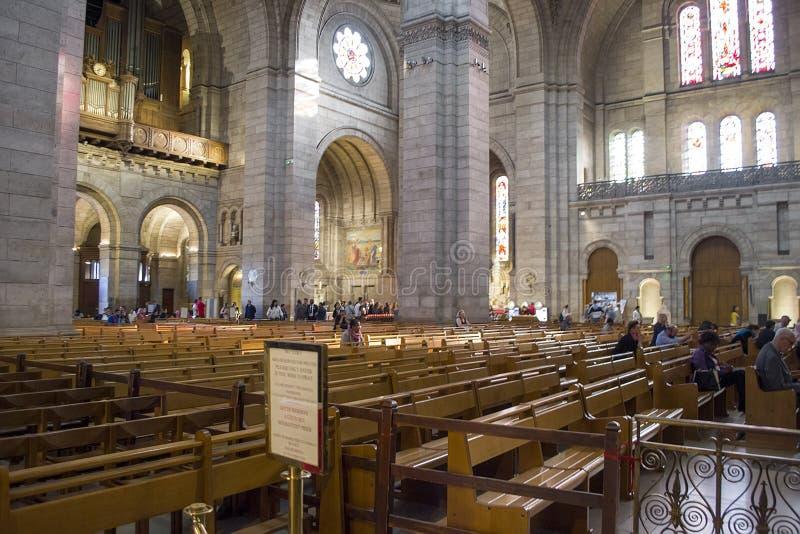 Interior da Basilica Sacre Coeur imagens de stock royalty free
