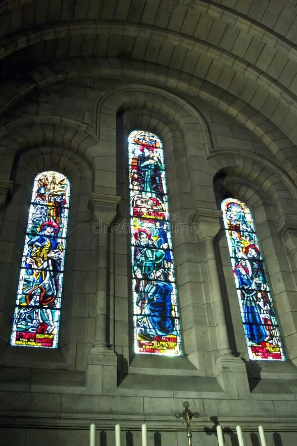 Interior da Basilica Sacre Coeur imagem de stock royalty free