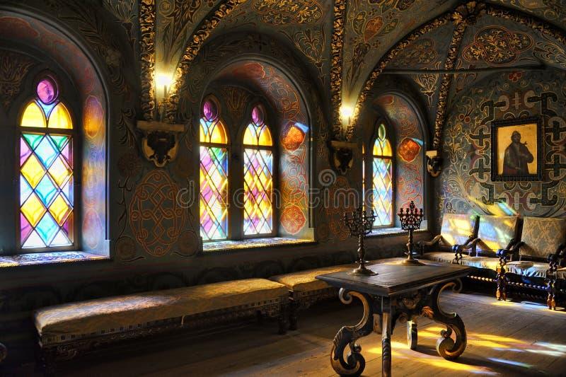 Interior da câmara transversal - palácio de Terem do Kremlin imagem de stock royalty free