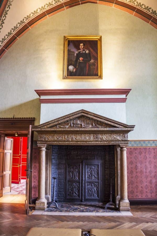 Interior da c?mara municipal de Aix-la-Chapelle, Alemanha fotos de stock