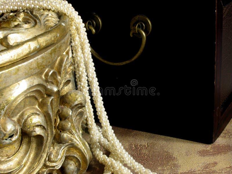 Interior da caixa de jóia fotos de stock royalty free