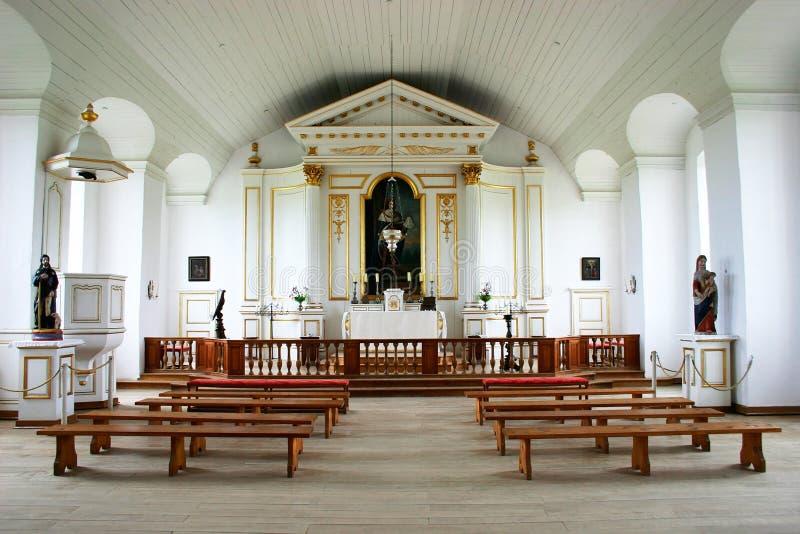 Interior da capela do século XVIII imagem de stock royalty free