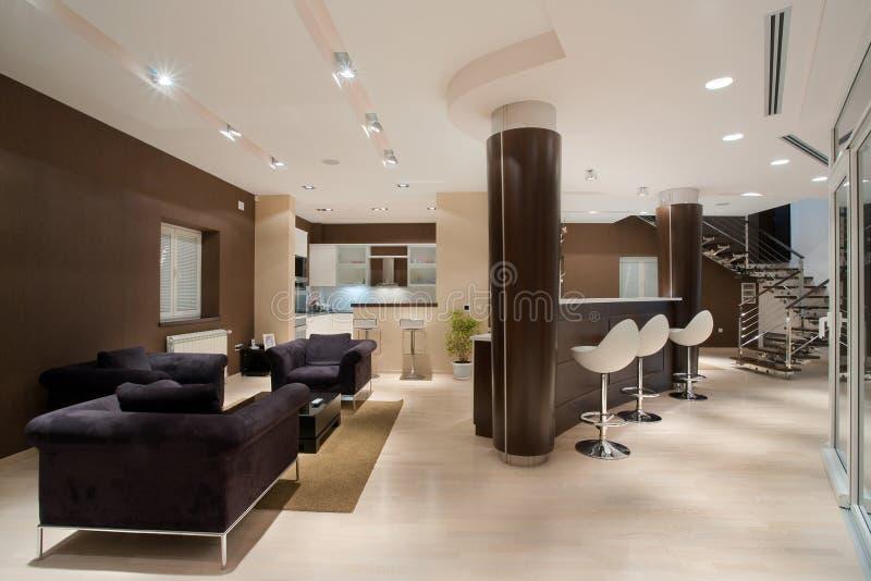 Interior da casa fotografia de stock royalty free