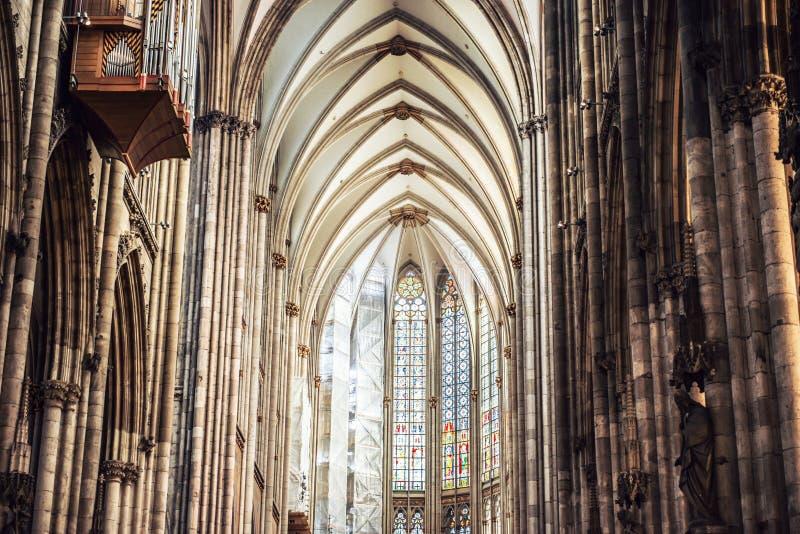 Interior da catedral da água de Colônia fotos de stock royalty free