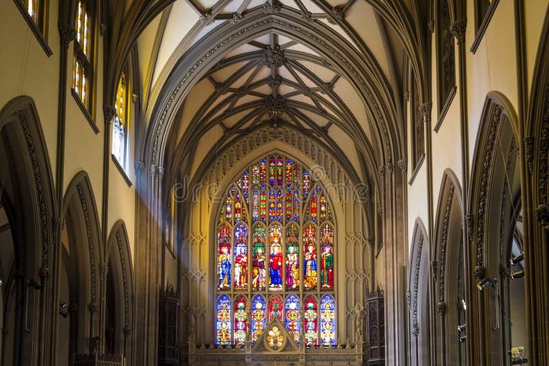 Interior da catedral da trindade, Manhattan, New York City fotografia de stock royalty free