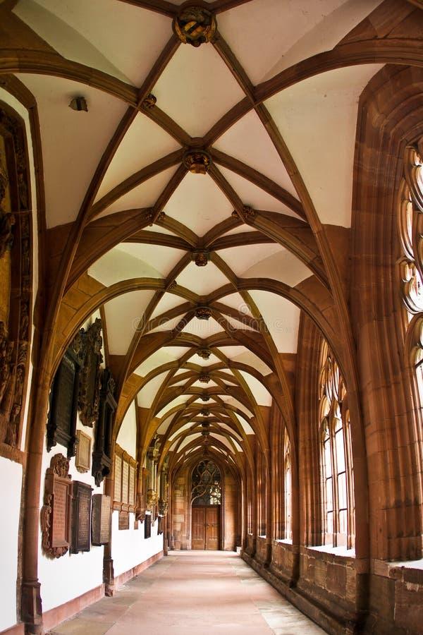 Interior da catedral de Basileia Munster fotos de stock