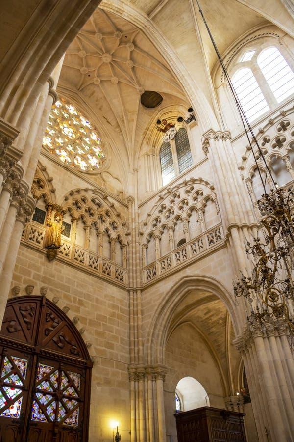 Interior da catedral de Burgos, em Burgos, Espanha fotos de stock