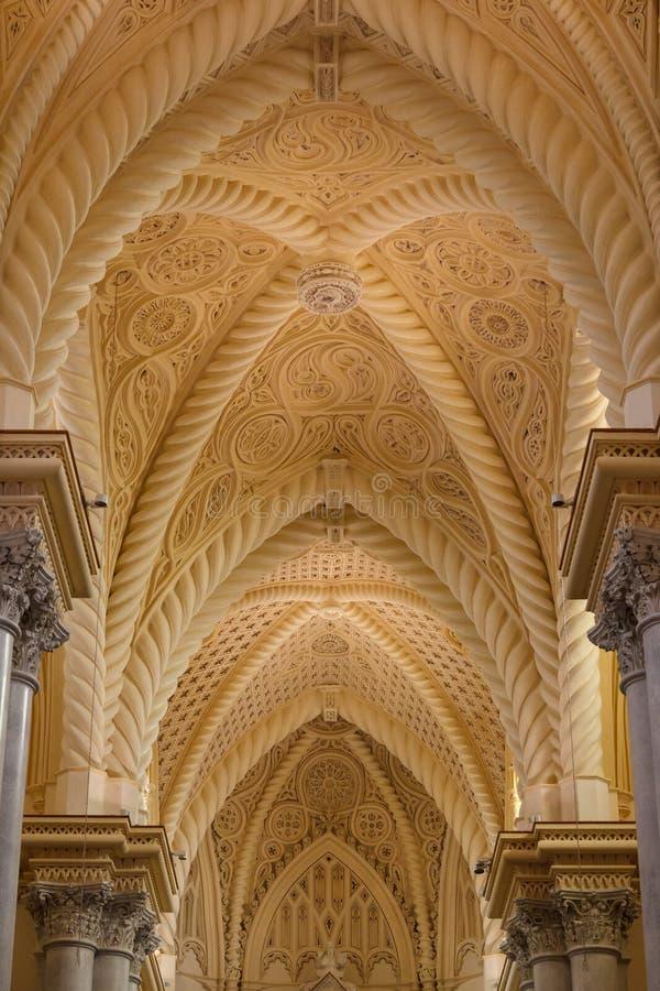 Interior da catedral de Erice imagens de stock