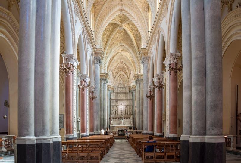 Interior da catedral de Erice, província de Trapani Sicília, Italy foto de stock royalty free