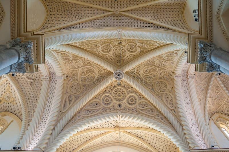 Interior da catedral de Erice, província de Trapani Sicília, Italy fotografia de stock