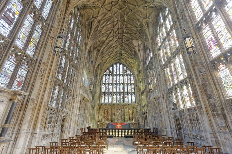 Interior da catedral de Gloucester imagem de stock royalty free