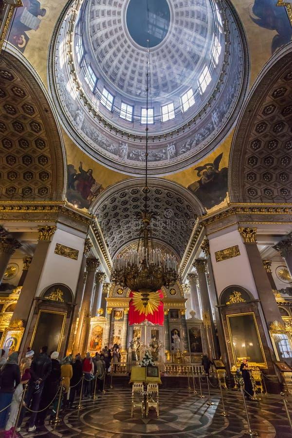 Interior da catedral de Kazan, St Petersburg, Rússia fotos de stock