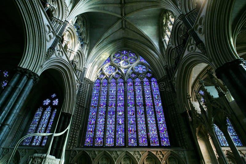 Interior da catedral de Lincoln fotos de stock