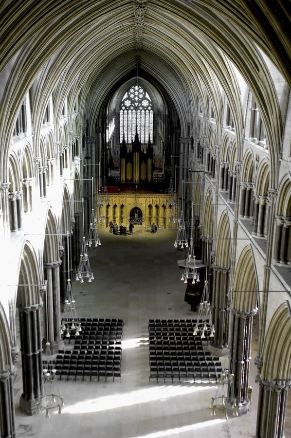 Interior da catedral de Lincoln imagem de stock