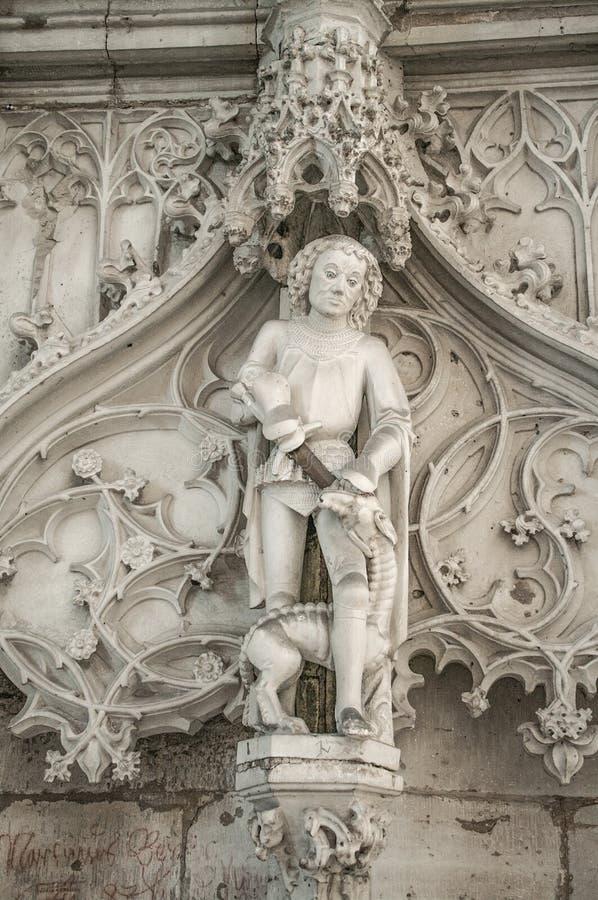 Interior da catedral de Magdeburgo, Magdeburgo, Alemanha fotografia de stock royalty free