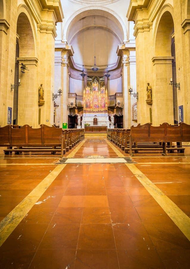 Interior da catedral de Montepulciano foto de stock royalty free