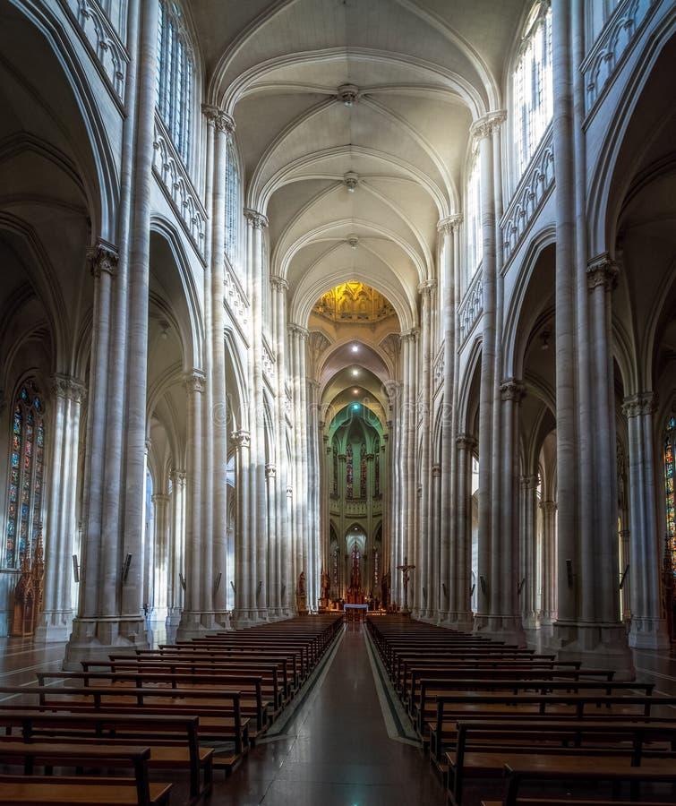 Interior da catedral de Plata do La - La Plata, província de Buenos Aires, Argentina fotos de stock royalty free