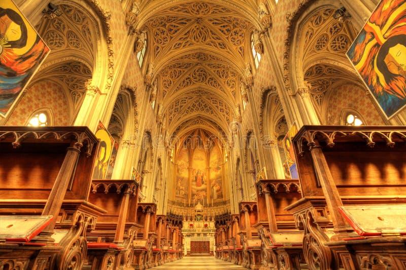 Interior da catedral de San Lorenzo. fotos de stock royalty free