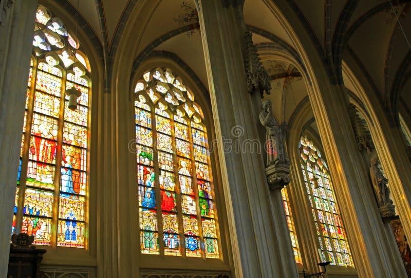 Interior da catedral de St John 'no s-Hertogenbosch, Netherland imagem de stock