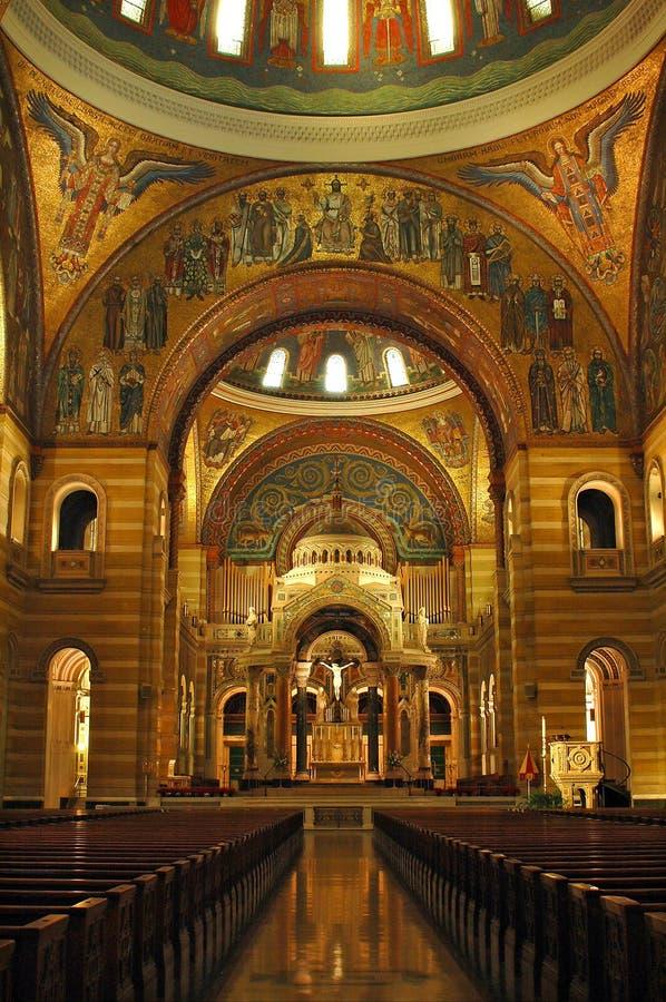 Interior da catedral de St Louis foto de stock royalty free