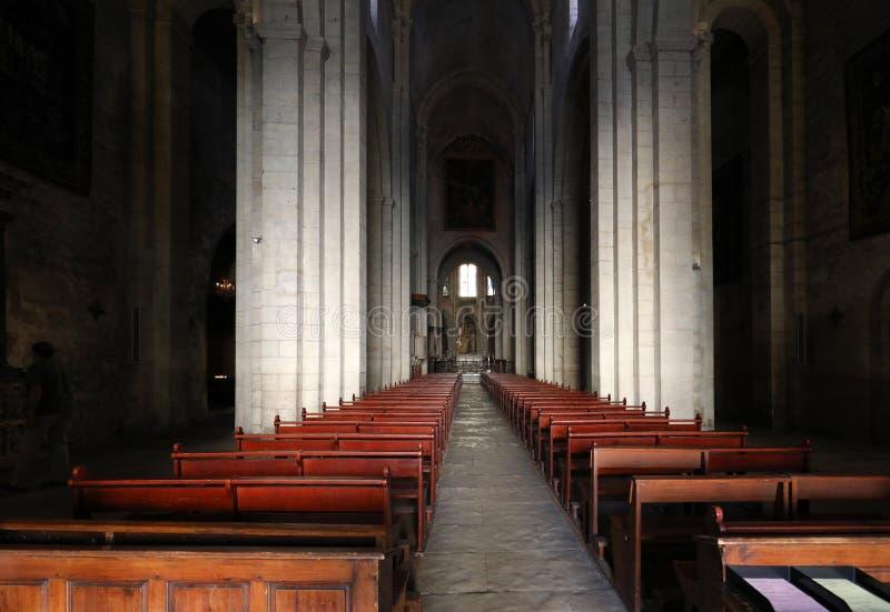 Interior da catedral de Trophime de Saint em Arles, Fran?a Bouches-du-Rhone, Fran?a imagem de stock royalty free