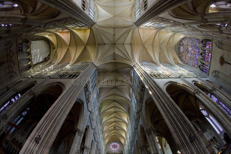 interior da catedral Notre Dame, Amiens, Picardia, França foto de stock