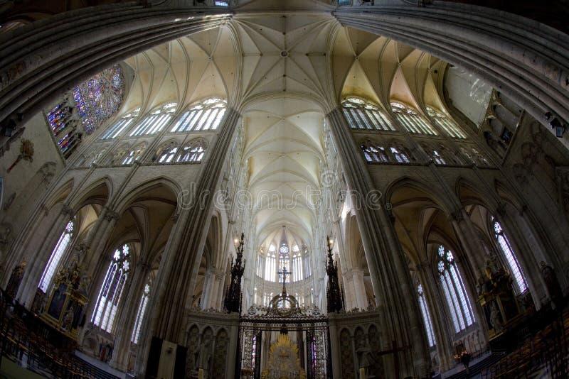 interior da catedral Notre Dame, Amiens, Picardia, França imagem de stock