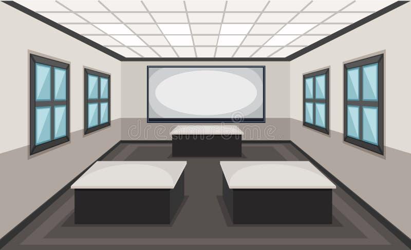 Interior da cena da sala de aula ilustração stock
