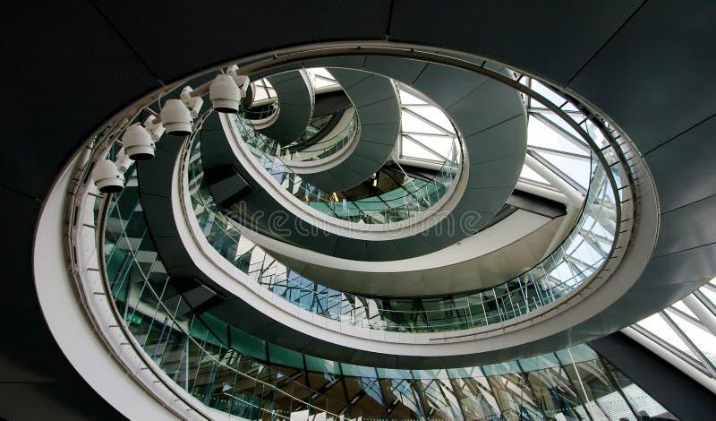 Interior da cidade salão Londres imagens de stock