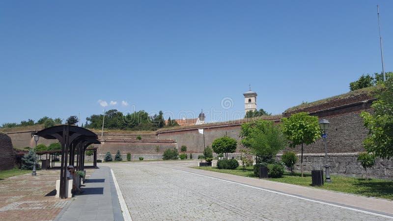 Interior da citadela, complexo de Alba Iulia Fortress, a Transilvânia, Romênia fotografia de stock royalty free