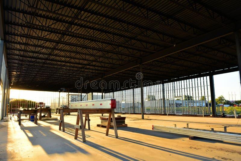 Interior da construção de armação de aço imagens de stock royalty free