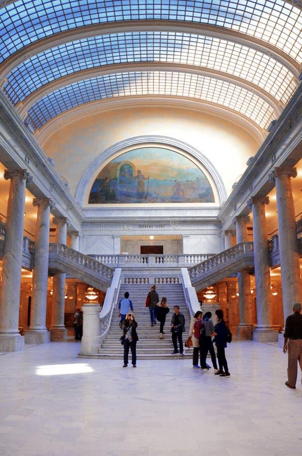 Interior da construção do Capitólio do estado de Utá fotos de stock