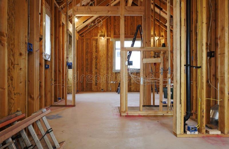 Interior da construção Home nova foto de stock