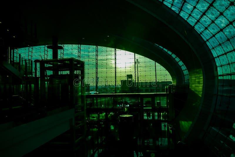 interior da construção moderna, imagem digital da foto como um fundo fotografia de stock