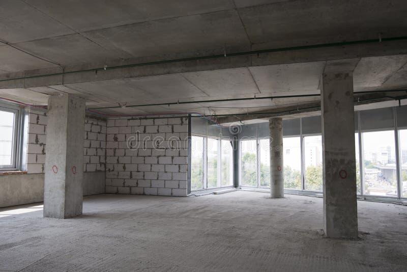 Interior da construção sob a construção