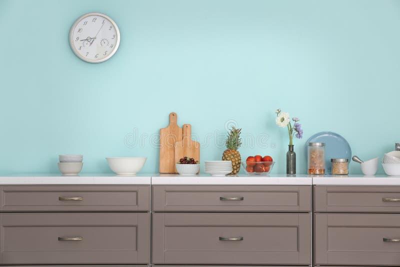 Interior da cozinha moderna imagem de stock royalty free