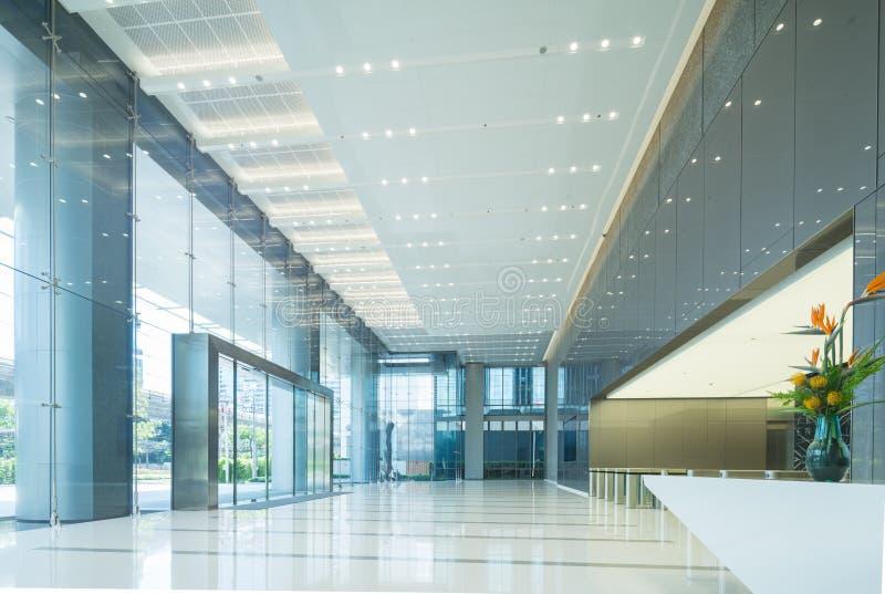 Interior da entrada do escritório fotografia de stock royalty free
