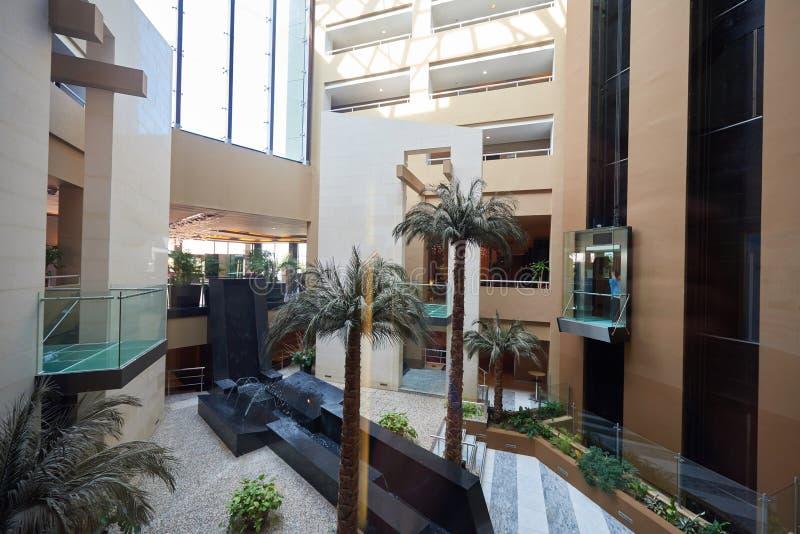 Interior da entrada do hotel fotos de stock royalty free