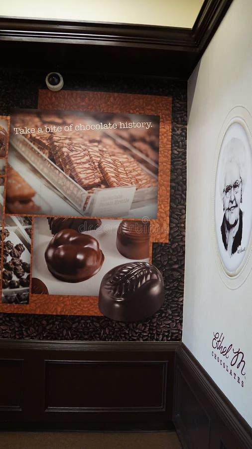 Interior da fábrica de Ethel M Chocolate imagem de stock royalty free