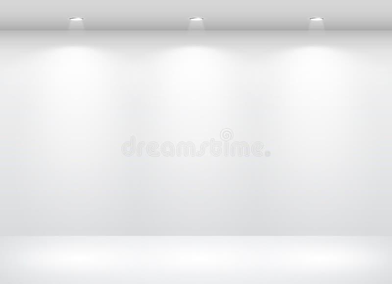 Interior da galeria com vazio ilustração royalty free