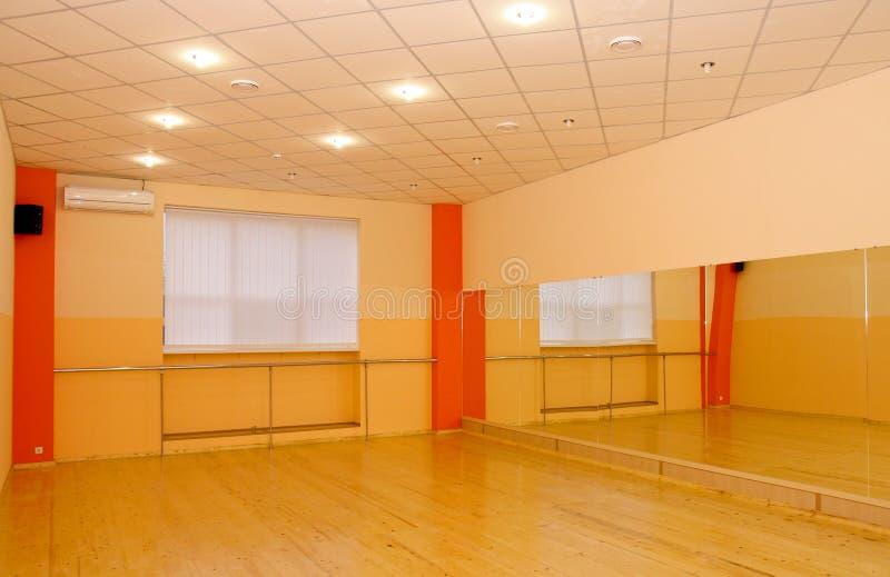 Interior da ginástica foto de stock