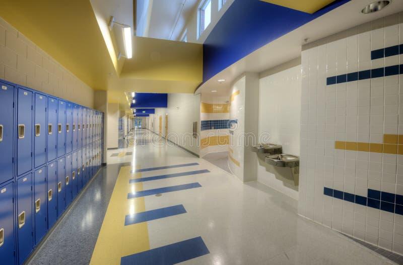Interior da High School imagem de stock