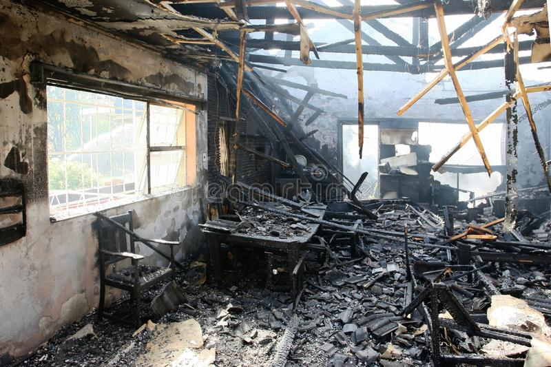 Interior da HOME queimada fotos de stock