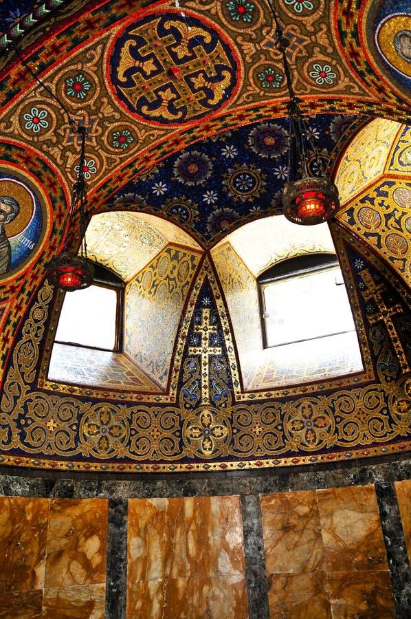 Interior da igreja foto de stock