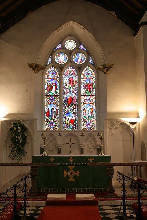 Interior da igreja imagem de stock royalty free