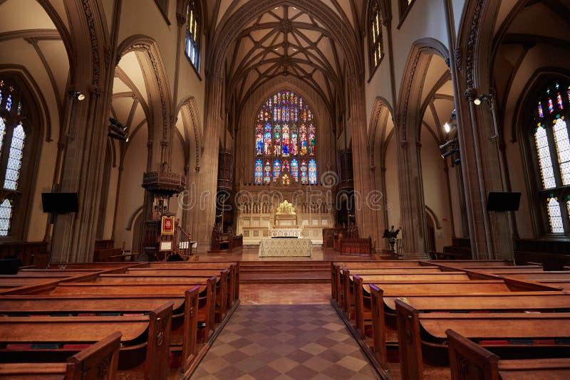 Interior da igreja de trindade em New York imagem de stock