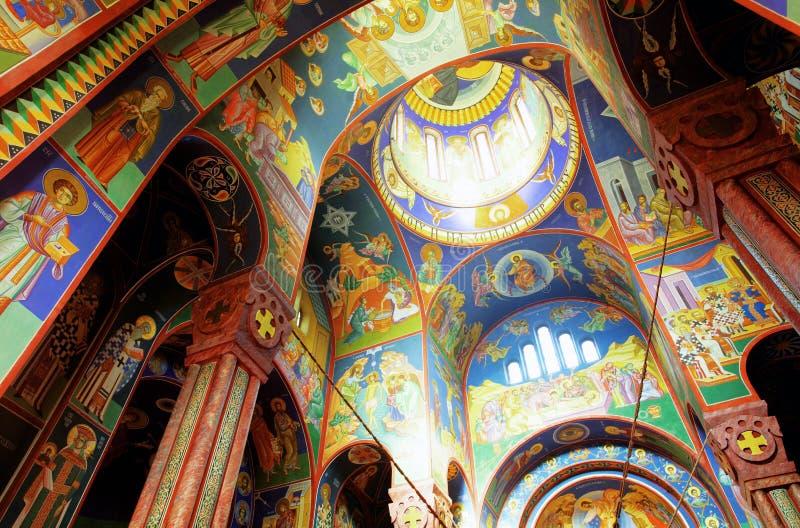 Interior da igreja ortodoxa imagens de stock