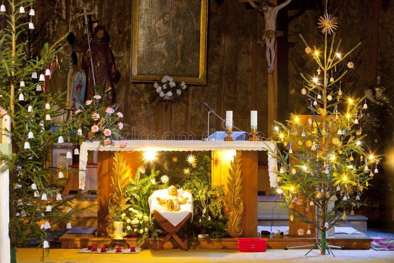 interior da igreja, Slavonov, República Checa fotografia de stock royalty free