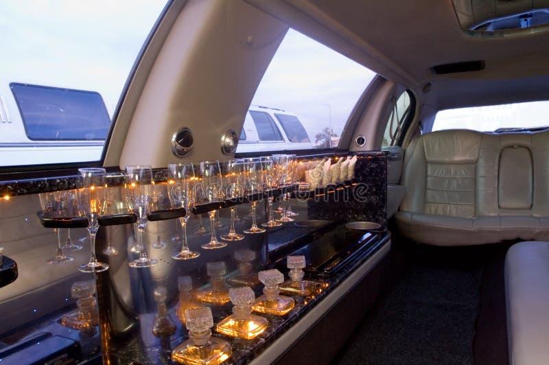 Interior da limusina fotografia de stock