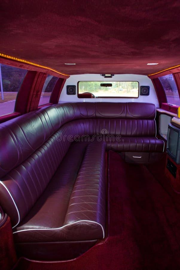Interior da limusina fotos de stock royalty free